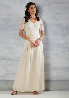 Right Here and Vow Maxi Dress in Ivory, #ModCloth