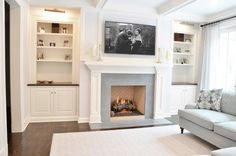 SOUND RD - traditional - living room - new york - Dearborn Cabinetry LLC