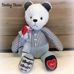 Memory Bears, First Love, Dads, Teddy Bear, Memories, Animals, Memoirs, Souvenirs, Animales