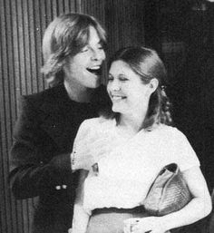 Mark Hamill and Carrie Fisher...is he feeling her up? What is this madness?