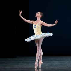 "Miami City Ballet's Ashley Knox in ""Divertimento No. 15"" Photo © Alexander Iziliaev."