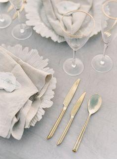 Pale Blue Oceanside Bridal Inspiration: Long Lost Love at Sea by Jeanni Dunagan Elegant Wedding, Wedding Reception, Gold Wedding, Wedding Blog, Wedding Flowers, Minimal Wedding, Reception Ideas, Summer Wedding, Wedding Ideas