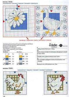 animals and daisy Cross Stitch Kitchen, Cross Stitch Bird, Cross Stitch Animals, Cross Stitching, Cross Stitch Embroidery, Free Cross Stitch Charts, Cross Stitch Patterns, Craft Room Decor, Rico Design