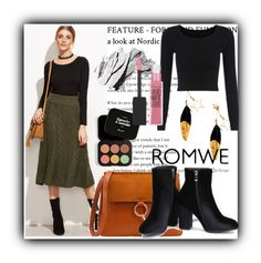 """10/16 romwe"" by fatimka-becirovic ❤ liked on Polyvore featuring BHCosmetics, Bobbi Brown Cosmetics and Maybelline"