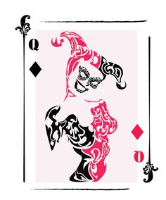 Harley Quinn Tribal Card by ChronoPhoenix on deviantART