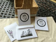 Scottish Thistle cards white