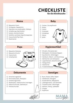 Checklist for childbirth: Packing list clinic bag - Schwanger? - Pregnant Tips Baby Love Quotes, Quotes For Kids, Family Quotes, Baby Room Boy, Baby Blog, Hospital Bag, Clinique, Baby Hacks, Parenting