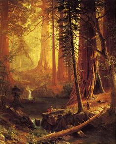 Albert Bierstadt, Giant Redwood Trees of California 1874