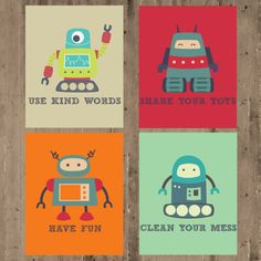 Kids Wall Decor Playroom Prints Playroom Rules