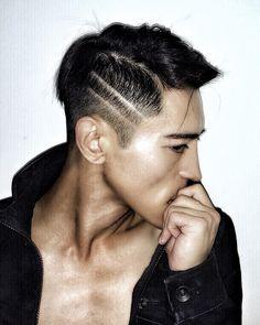 Andi Young. Hot Asian guys. Hot guys. Model. Male Model. Fashion. Men's hairstyle undercut men's undercut. Men's hair. Hot men.