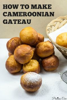 "Cameroonian ""gateau"" is a deep fried dough snack that tastes like a doughnut but it is not quite a doughnut. It is sold on the streets and in bakeries in Cameroon. Many countries enjoy a similar snack but with slight variations."