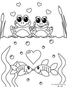 coloriage saint valentin