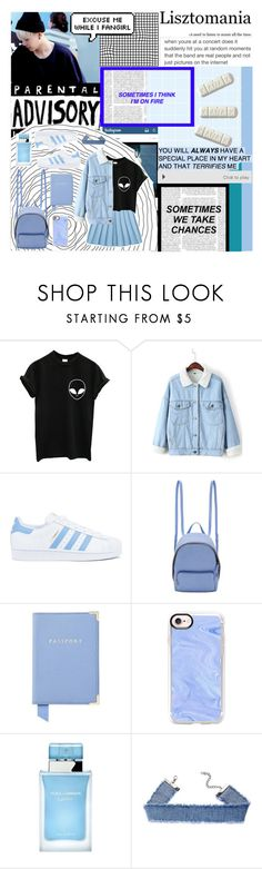 """372. Lisztomania"" by choosemaknae ❤ liked on Polyvore featuring GUSTA, WithChic, adidas, STELLA McCARTNEY, Aspinal of London, Casetify and Dolce&Gabbana"