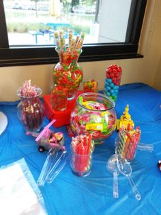 Candy Buffet  Paw patrol birthday party