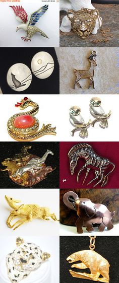 Into the Wild - Vintage Jewelry from Vjt by moonbeam0923 on Etsy--Pinned+with+TreasuryPin.com