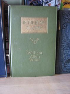 In the Heart of a Fool By William Allen White - 1918 - $30