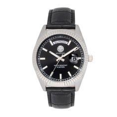 "Michael Zweig ""Aulos"" 38 mm Mid Size case, Day Date Fluted Bezel Luxury Watch-MZ-508A"
