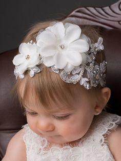 Baptism headband baptism headband Vintage headband sale del – My CMS Flower Girl Headbands, Vintage Headbands, Diy Headband, Baby Headbands, Wedding Hair Accessories, Baby Accessories, Headband Hairstyles, Diy Hairstyles, Christening Headband