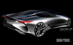 Photos:+Lexus+LF-LC+Concept+-+Sketches - RoadandTrack.com