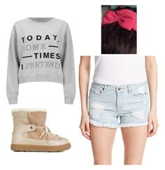 """Outfit Idea by Polyvore Remix"" by polyvore-remix ❤ liked on Polyvore featuring мода, Cheap Monday, Moncler и GUESS"