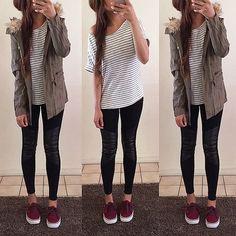 Winter basics. Jacket + top + leggings from @popcherryfashion • Shop now…