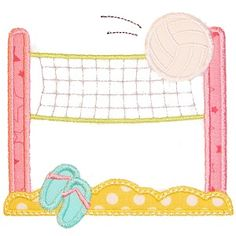 All Appliques - Volleyball Net Applique