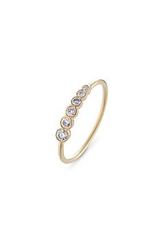 Add a touch of subtle glamour to your fine jewelry collection with Danish jewelry designer Sophie Bille Brahe's delicate variegated white diamond ring #Stylebop