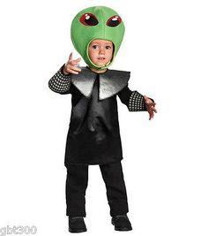 Space Punk Alien Toddler Costume Martian Boy Child Halloween Creature 2T 3T 4T