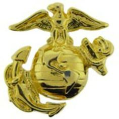 "U.S.M.C. Emblem Left Gold Plated 1 3/4"" by FindingKing. $11.99. This is a new U.S.M.C. Emblem Left Gold Plated 1 3/4"""
