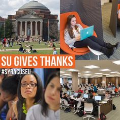 #SUGivesThanks We're thankful for the 21,000+ incredible students who work hard day after day at #SyracuseU!