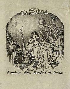 [Bookplate of Countess Alice Festetics de Tolna] by Pratt Libraries, via Flickr