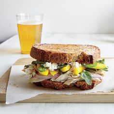 Griddled Chicken and Mango Sandwiches | CookingLight.com #myplate #protein #fruit