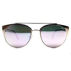 Quay Australia Tell Me Why Sunglasses in Gold/Pink