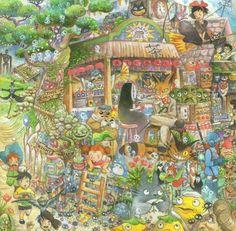 The world of Ghibli.