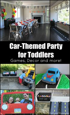 Car-Themed Party for Toddlers- Games, decor and more!