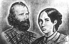 Anita Garibaldi e Giuseppe Garibaldi