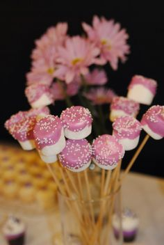 Chocolate covered marshmallows Stick Pony Creations: Our Baby Girl's Baptism