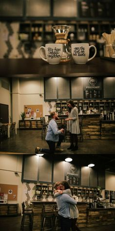 This guy proposed in the coffee shop where they had their first date, and it's beyond romantic.