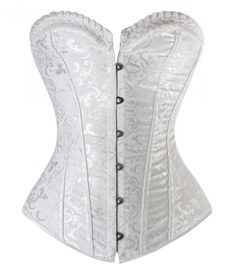 Vintage Floral Embroidered Steel Boning Corset by fantasiesinlace.com