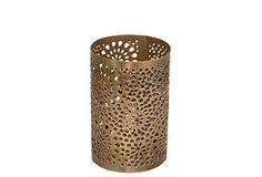 """7"""" Pierced Candleholder, Brass"""