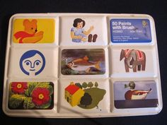 Vintage RETRO Watercolor PAINT BOX TIN set CREATIVE PLAYTHINGS Made in ENGLAND #CREATIVEPLAYTHINGS