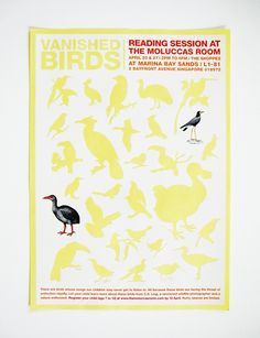 Vanished - Sticker Poster for Endangered Birds
