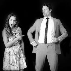 Chloe Bennett and Brett Dalton    #actors #skyeward