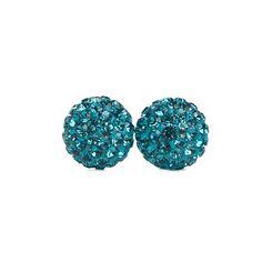 Turquoise Sparkle Ball Stud Earrings – Hillberg & Berk