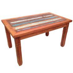 mesa de madeira de lei maciça c/ detalhe demolição 1,50 m