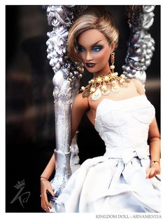 OOAK Kingdom Doll Arnementia Jewelry by Mike Austin Gown by Yum Yum Couture Wig by Ilaria