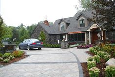 driveway...beautiful and a must!