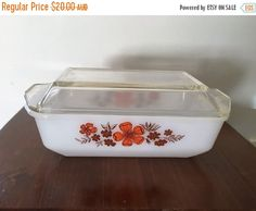 A personal favourite from my Etsy shop https://www.etsy.com/au/listing/478489849/pyrex-sale-vintage-1970s-crown-pyrex-4