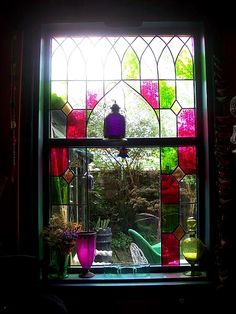 stained glass and colored glass
