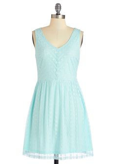 Carefree for All Dress. Make todays day date even more endearing by meeting your sweetie at the park in this pastel blue dress! #aqua #modcloth